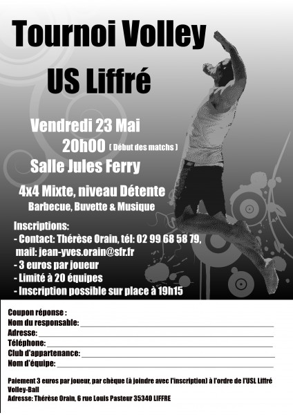 affiche tournoi Volley2014